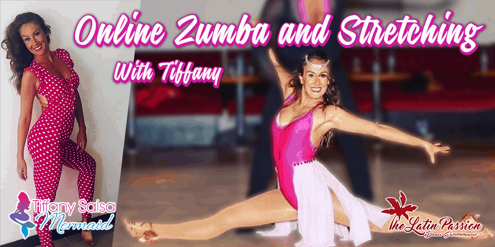 Online zumba and stretching classes with Tiffany